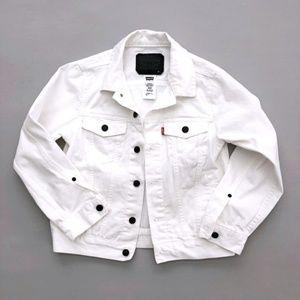 Levi's Bright White Jean Jacket Medium